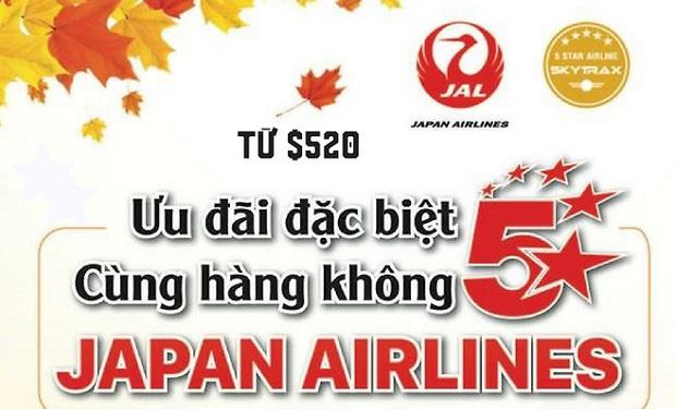 Japan Airlines khuyến mãi lớn cho đường bay Hà Nội – Tokyo chào mùa thu