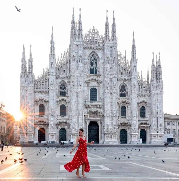 nhà thờ chánh toàn Milano
