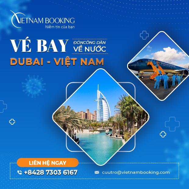 vé máy bay từ Dubai về Việt Nam giá rẻ