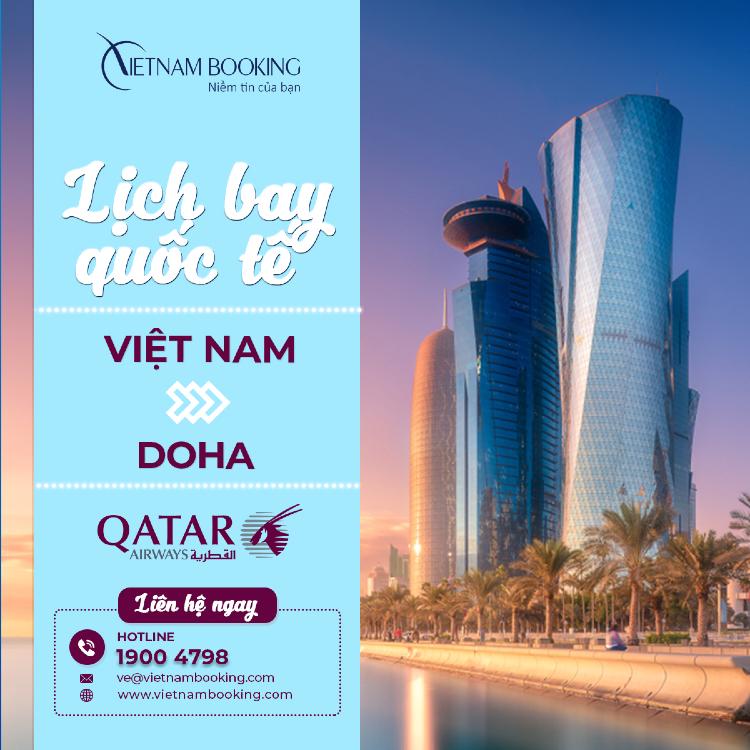 Chuyến bay từ Việt Nam đi Doha