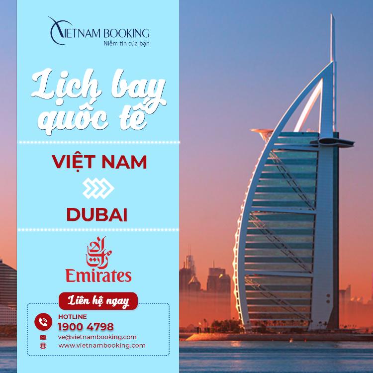 Chuyến bay từ Việt Nam đi Dubai