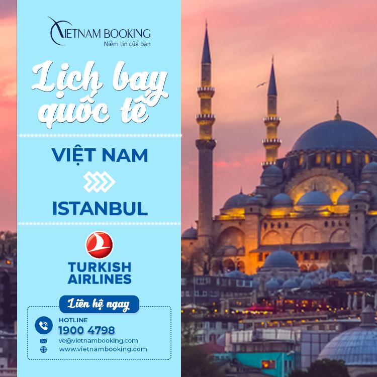 Chuyến bay từ Việt Nam đi Istanbul