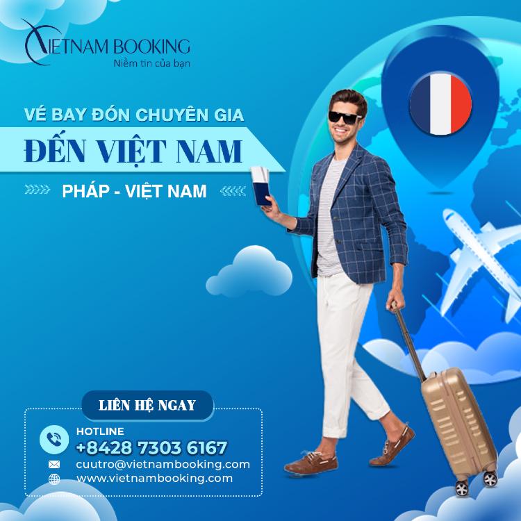 Chuyến bay đón chuyên gia từ Pháp đến Việt Nam