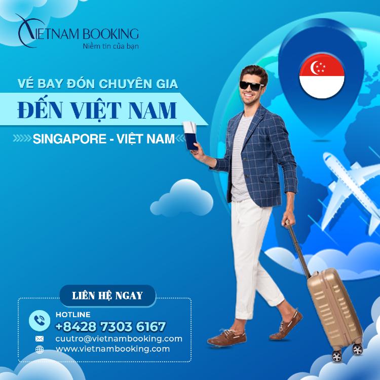 chuyến bay đón chuyên gia từ Singapore đến Việt Nam