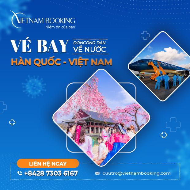Cập nhật thông tin chuyến bay từ Hàn Quốc về Việt Nam   Lịch bay mới nhất