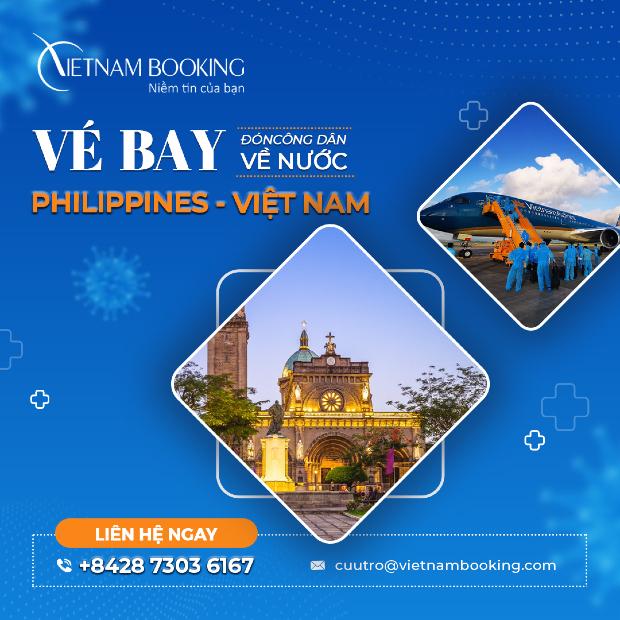 vé máy bay từ Philippines về Việt Nam