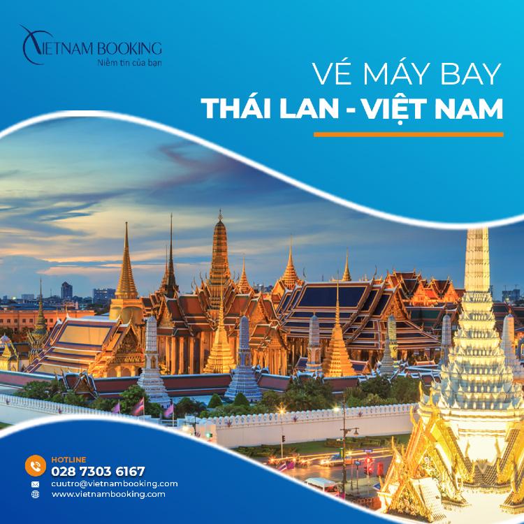 vé máy bay từ Thái Lan về Việt Nam