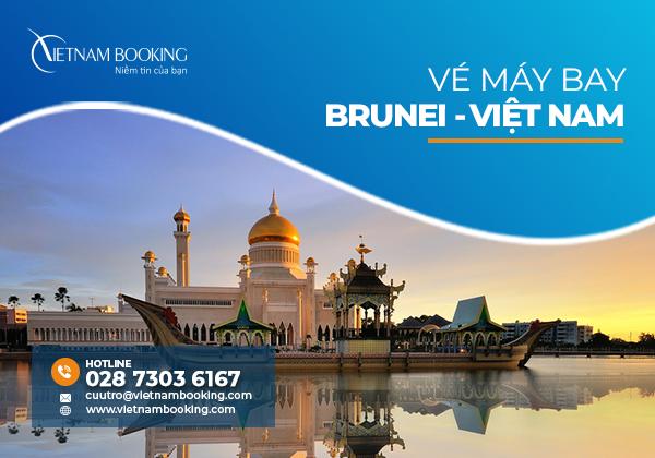 Vé máy bay từ Brunei về Việt Nam, Update lịch bay hàng tháng